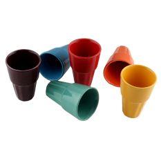 Handcraft Ceramic Multicolour Tea Cups in Set of 6