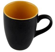 Handcraft Decorative Ceramic Coffee Mug In Black & Yellow