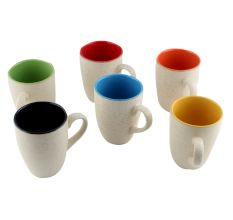 Decorative Handcraft Ceramic Multicolour Coffee Mug In Set Of 6