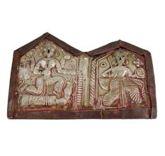 Copper Old India God Engraved Wall Hanging