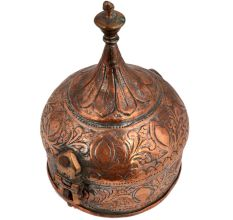 Copper Islamic Dome Shaped Jewelry Box And Decorative Finial