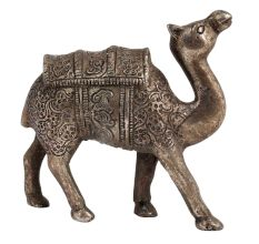 Hand Carved Metal Camel Statue For Home Decoration