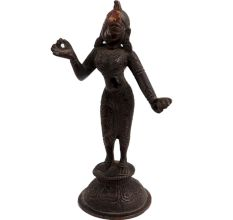 Brass Radha Rani Vrindavan Dancing On A Lotus Base