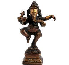 Brass Dancing Ganesha Statue Diwali Gift
