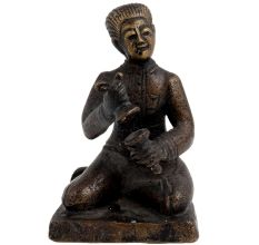 Brass English Gentlemen Sitting Holding Instrument
