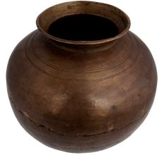 Brass Big Belly Pot For Holy Water