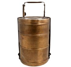 Brass Lunch Box With Three Container