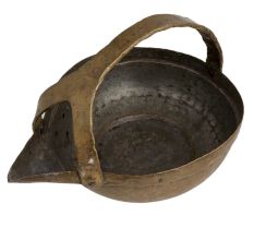 Brass Serving Pot With Handle And Triangular Spout