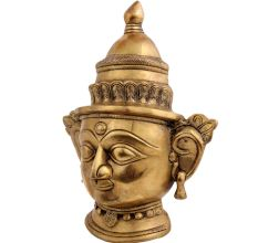 Brass Parvati Head Statue Wall Hanging