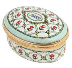 Hand painted Red Roses Porcelain Box With A Message