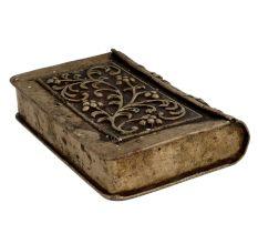 Floral Design  Engraved White Metal Betel Nut Pan Box