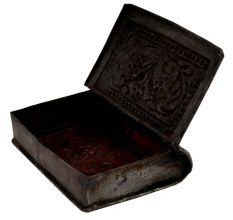 Ornate White Metal Old Trinket Pill Box