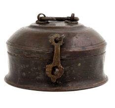 Brass Vintage Round Jewelry Box