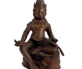 Hand Crafted Brass Tibetian Brass Statue