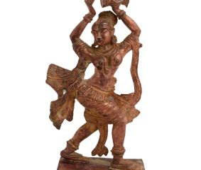 Brass Dancing Lady With Dumroo Home Decoration Statue