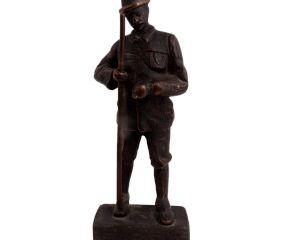 Brass Englsh Statues In Uniform