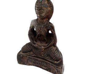 Brass Meditating Buddha Statue And Dorje Vajra