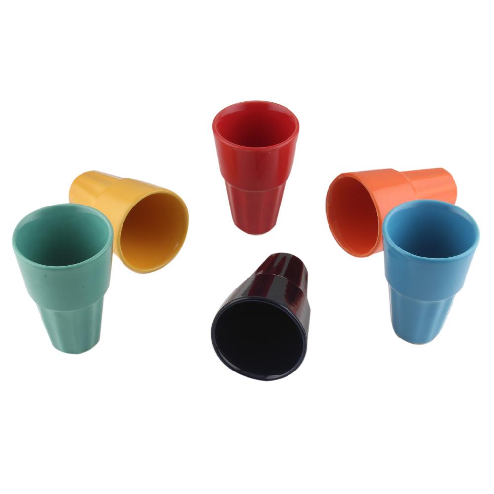 Designer Handcraft Ceramic Multicolour Tea Cup ins Set of 6