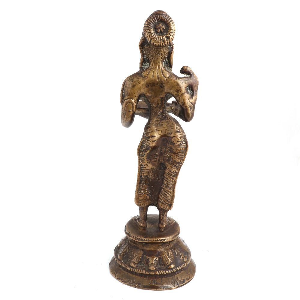 Brass Spiritual Standing Laxmi Godess Statue