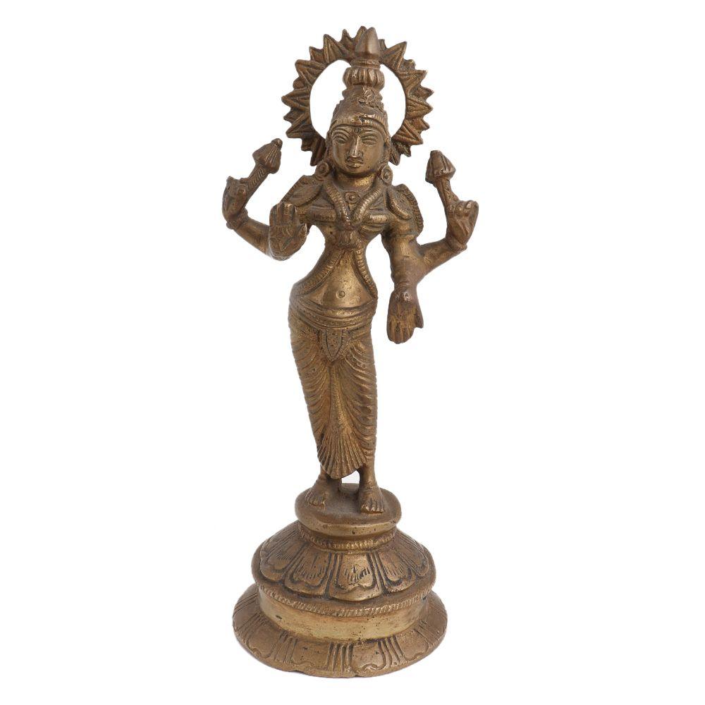 Goddess Laxmi Standing  Four Armed Statue