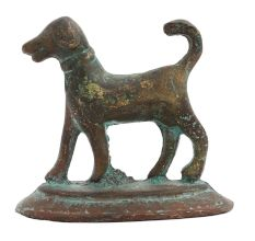 Brass Wild Dog With Short Tail For Home Decoration