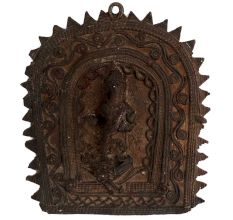 Brass Tribal Art Goddess Saraswati Wall Hanging