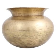 Round Assamese Brass Rice Cooking Pot