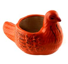 Orange Ceramic Duck Pot Planter For Flowers