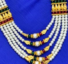 South Indian Traditional Handicraft Necklace Set