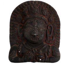 Brass Tribal Art Wall Hanging Tibetan God Face