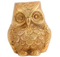 Golden Brass Owl Paper Weight