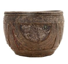 Rustic Brass Rice Measuring Pot From Orissa