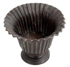 Brass Fluted Asian Design Flower Pot