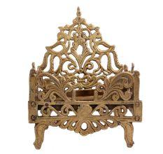 Brass Krishna Bed Singhasan From Banaras