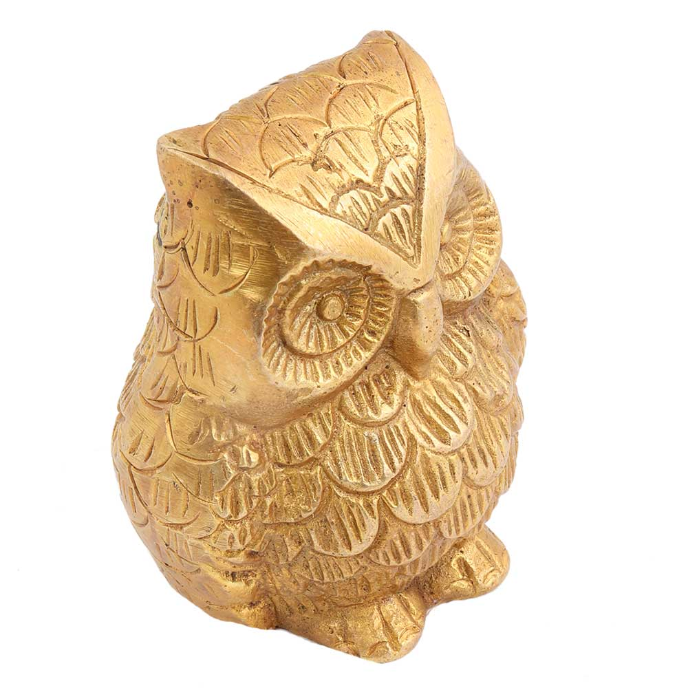 Golden Brass Owl Paper Weight