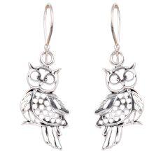 Owl Charm 92.5 Sterling Silver Earrings