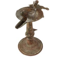 Brass Oil Lamp Dhokra Showpiece Home Decoration Diya Lamp