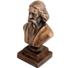 Brass Noble Laureate Rabindranth Tagore Bust Statue