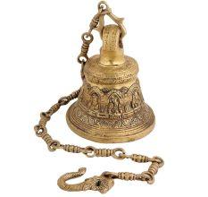 Ganesha Figurine Brass Hanging Bell With Chain