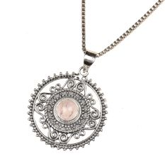 Round Decorative 92.5 Sterling Silver Pendant Jewelry