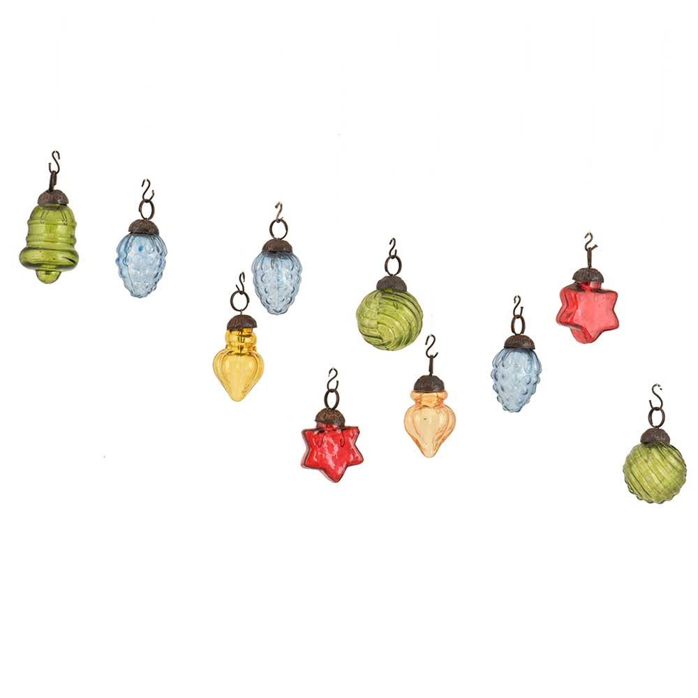MultiColor Combo Glass Tiny Christmas Hanging Set of 25