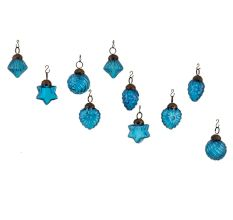 Royle Blue Combo Glass Tiny Christmas Hanging Set of 25