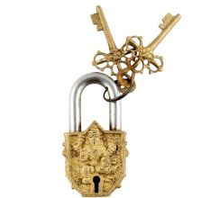 Brass Ganesha Decorative Lock With Keys In Pair