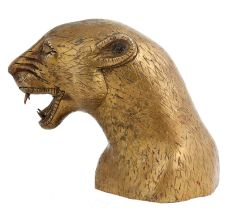 Brass Tiger Head Statue For Home Decoration