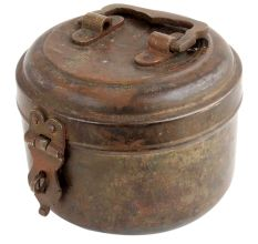 Brass Unique Shaped Chapatti Box Jewelry Box