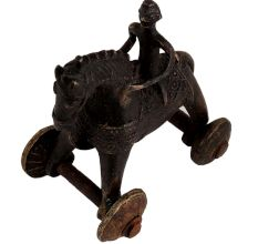 Brass Rider On Horse Temple Toy Home Decoration