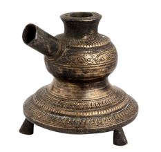 Brass Hand Carved Traditional Hookah Base Three Legs