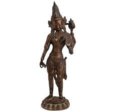 Brass Goddess Tara Buddhist Savior Statue