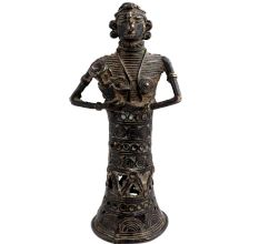 Brass Tribal lady Holding Child Home Decoration Statue