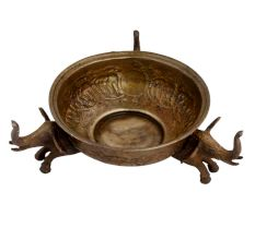 Brass Elephant Urli Bowl Traditional Serve ware